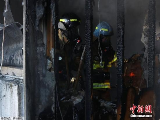 韩国医院火灾已致33死 死伤人数或进一步增加