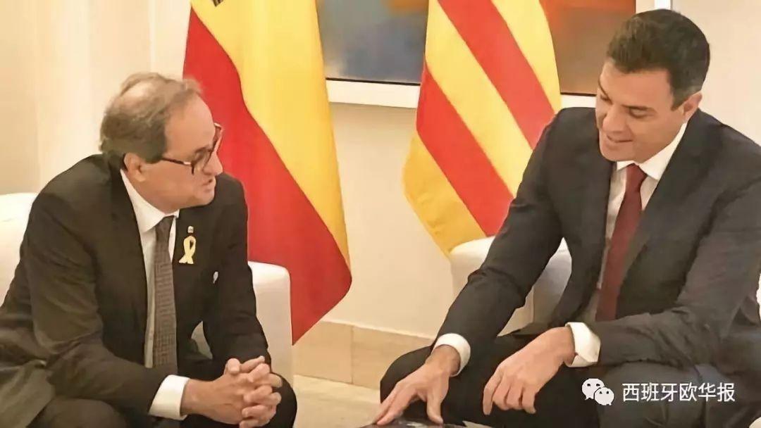 破冰之旅:西首相桑切斯会见加泰主席托拉