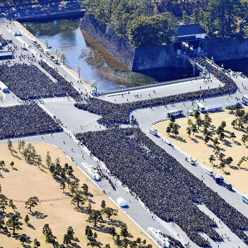 15万人最后参贺 天皇临时增加2次接见