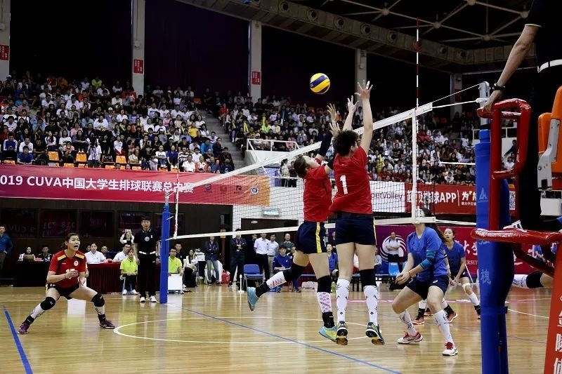 主场横扫 北体大女排获CUVA女排总决赛冠军