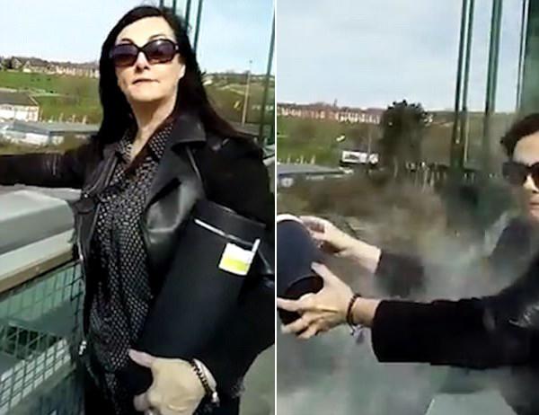 尴尬!美国妇女桥上逆风撒母亲骨灰被泼满身