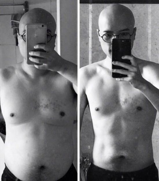叫兽易小星4个月瘦了35斤 秀腹肌还公开减肥食谱