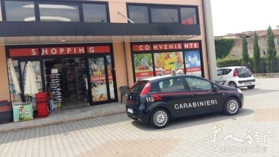 Pistoia省一华人商场大白天被人持枪抢劫