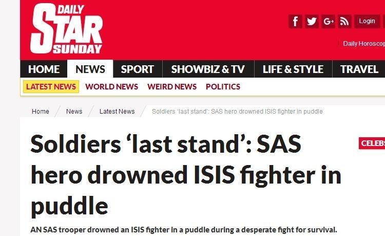 英国特种部队遭IS埋伏 全员拼刺刀冲锋杀死32人