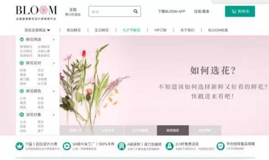 BLOOM鲜花网:七夕爆红的背后,是500万核心用户的支持