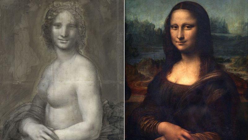 裸体蒙娜丽莎素描画或为自达·芬奇亲手所作