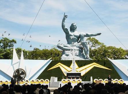 长崎市追悼17万遭受原子弹轰炸遇难者