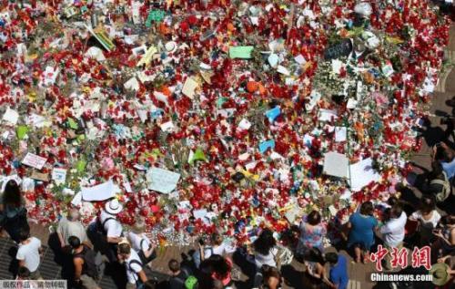 悼念恐怖袭击遇难者 西班牙举行全国反恐大游行
