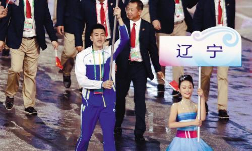 全运辽宁代表团旗手郭艾伦受宠若惊:这次不留遗憾