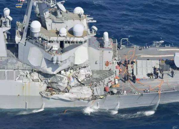 连续撞船事故不断 美军第七舰队司令被解职