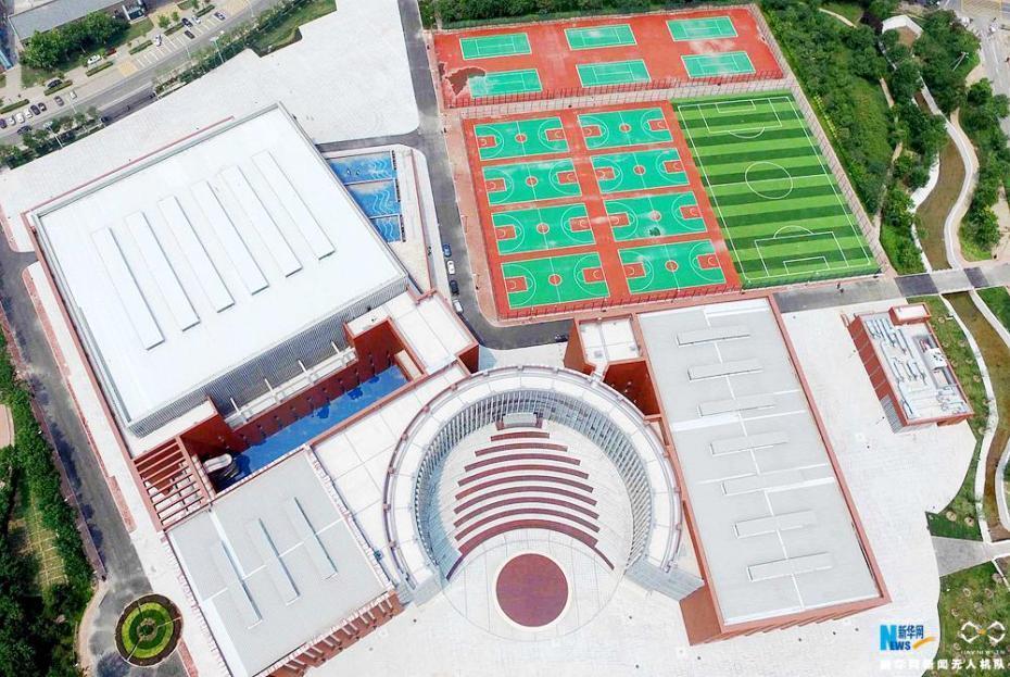 第十三届全运会今天开幕 航拍天津场馆(组图)