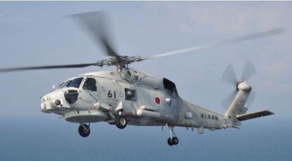 日本反潜直升机失联:或已坠机 仍有3人下落不明