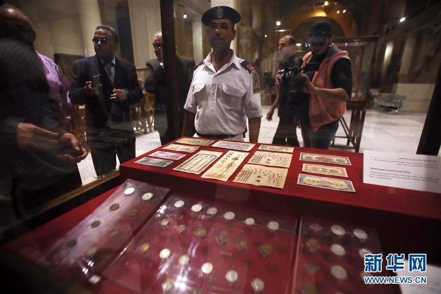 埃及向中国使馆转交查获的走私中国文物