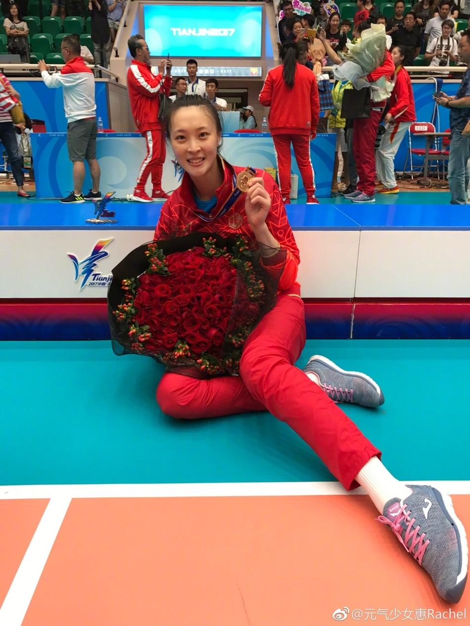 排球美女惠若琪获全运会冠军 获大批粉丝支持似流量小花