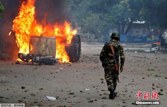 印度西北部两邦发生骚乱致31死亡 数百人受伤